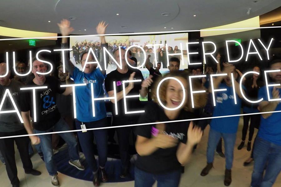 AT&T showcases 'perfect lunch hour' in recruitment drive