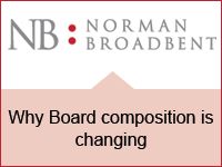 Norman Broadbent: Why Board composition is changing