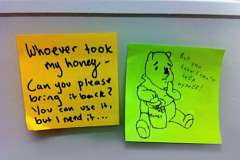 Food fight: Top 10 bizarre notes left in office fridges